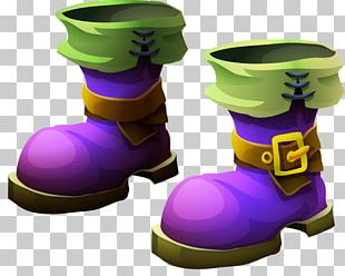 Purple Boot PNG