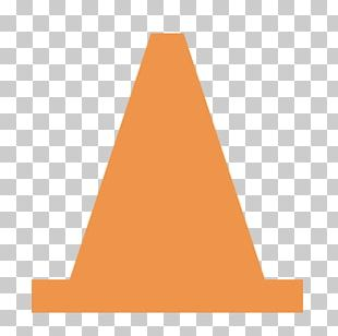 Pyramid Angle Cone Orange PNG