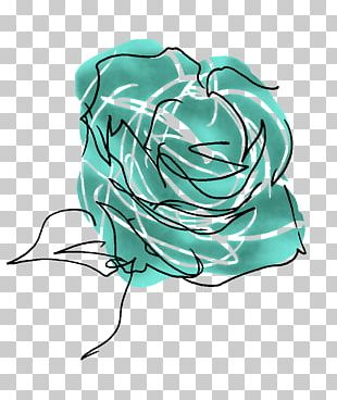 Beach Rose Flower Blue Rose Watercolor Painting PNG