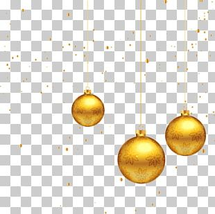 Christmas Decoration Gold PNG