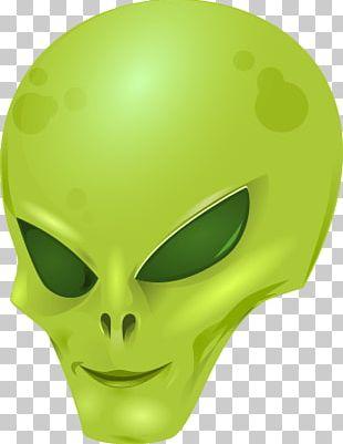 Green Alien Head PNG