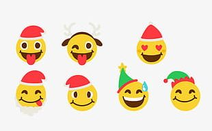 Christmas Cute Expression Package PNG