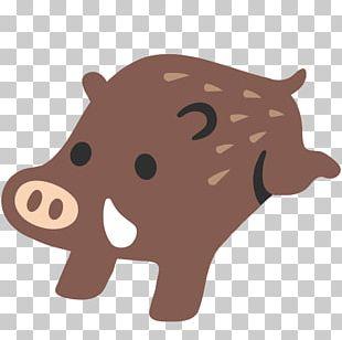 Emoji Wild Boar Text Messaging Social Media SMS PNG
