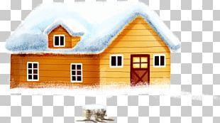 Snow Christmas House PNG