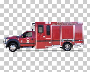 Fire Engine Car Fire Department Emergency Truck Bed Part PNG