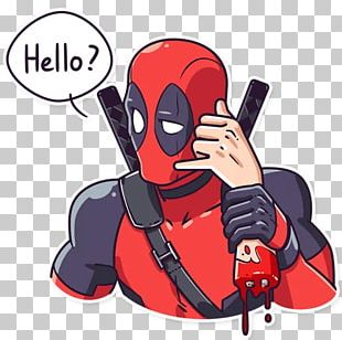 Deadpool Sticker Telegram Marvel Comics Character PNG