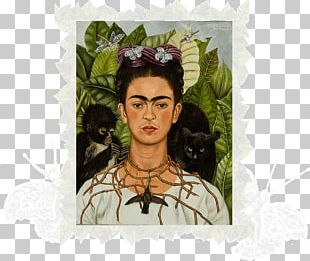 Self-Portrait With Thorn Necklace And Hummingbird Frida Kahlo Museum Harry Ransom Center Van Gogh Self-portrait New York Botanical Garden PNG