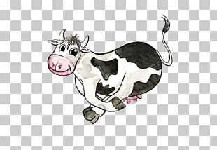Cattle Illustration Pig Watercolor Painting Sketch PNG