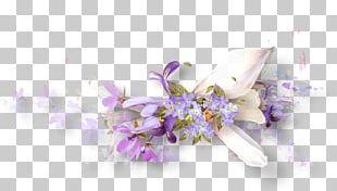 Leaf Floral Design Purple Flower PNG