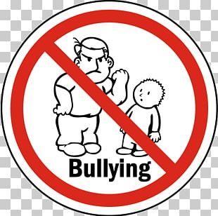 Stop Bullying: Speak Up School Bullying Sign No Symbol PNG