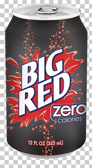 Big Red Fizzy Drinks Cream Soda Bottle PNG