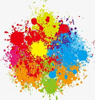 Pigment Splash Effect PNG