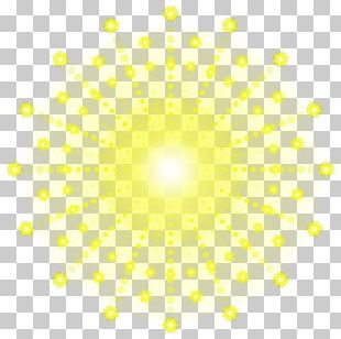 Light Circle Point Yellow Pattern PNG