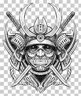 Drawing Samurai Tattoo Sketch PNG