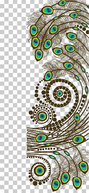 Motif Feather Peafowl PNG