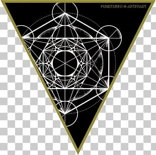 Triangle Sacred Geometry Platonic Solid Overlapping Circles Grid PNG