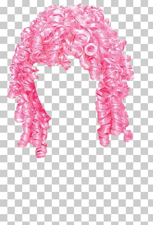 Wig Pink Curly PNG