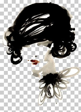 Chanel Fashion Illustration Watercolor Painting PNG