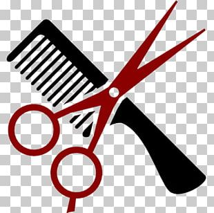 Comb Cosmetologist Hair-cutting Shears Beauty Parlour PNG