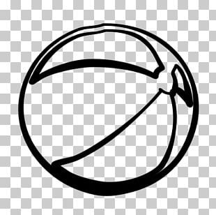 Black And White Beach Ball PNG