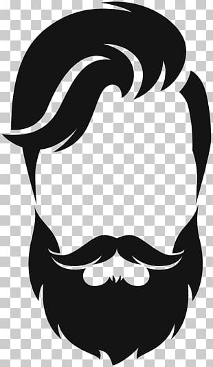 Silhouette Beard Moustache PNG