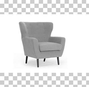 Club Chair Living Room Linen Chaise Longue PNG