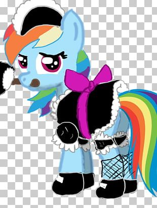 Rainbow Dash Pony Maid Service PNG