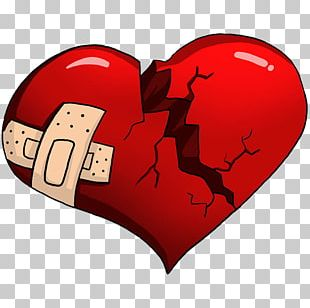 Broken Heart Love Cartoon PNG