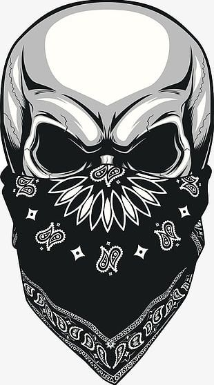Painted Masked Skull PNG