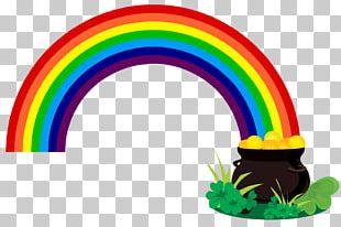 Pot Of Gold Rainbow Leprechaun PNG