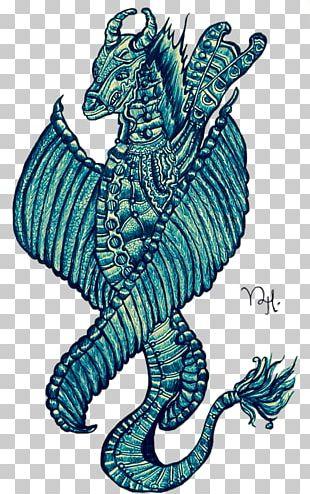 Seahorse Illustration Graphics Art Pattern PNG