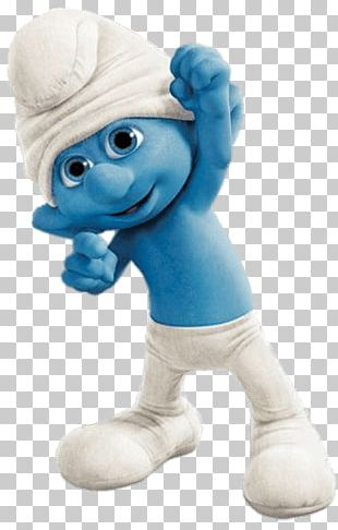 Clumsy Smurf Fist In The Air PNG