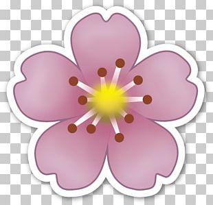 Emoji Sticker Flower IPhone Emoticon PNG
