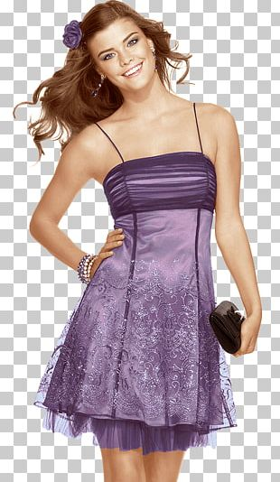 Nina Agdal Purple Dress PNG