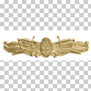 01504 Silver Surface Warfare Gold Bracelet PNG