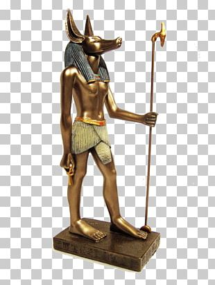 Ancient Egyptian Deities Set Statue Anubis PNG
