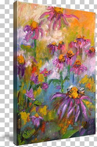 Floral Design Oil Painting Art Acrylic Paint PNG