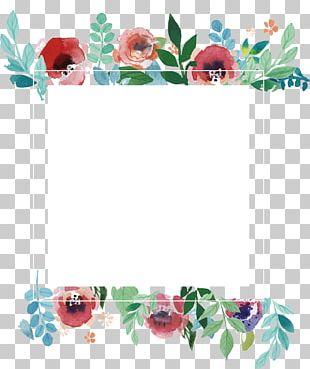 Wedding Invitation Flower Frame PNG