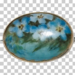 Plate Ceramic Turquoise Bowl Oval PNG