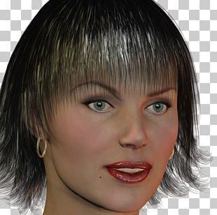 Layered Hair Step Cutting Bangs Hair Coloring PNG