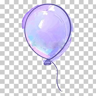 Balloon Purple Drawing PNG