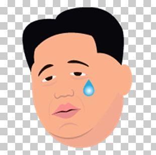 Kim Jong-un North Korea Face With Tears Of Joy Emoji Sticker PNG