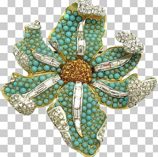 Turquoise Brooch Jewellery Costume Jewelry Necklace PNG