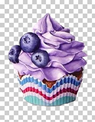 Cupcake Muffin Blueberry PNG