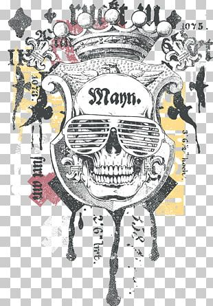 T-shirt Skull Printing PNG