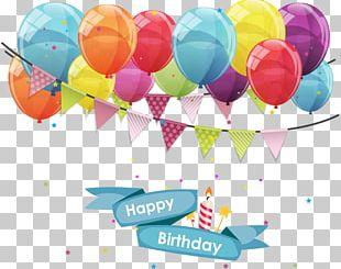 Balloon Greeting Card Birthday Gift PNG