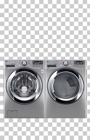 Combo Washer Dryer Washing Machines Clothes Dryer Laundry Home Appliance PNG