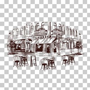 Coffee Cafe Drawing Illustration PNG