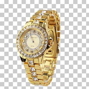 Watch Quartz Clock Gold PNG