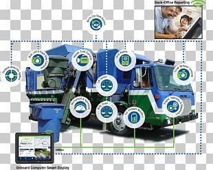 FleetMind Solutions Inc. Waste Management Garbage Truck Machine PNG